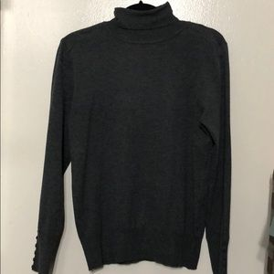 Sweaters - Button sleeve turtleneck